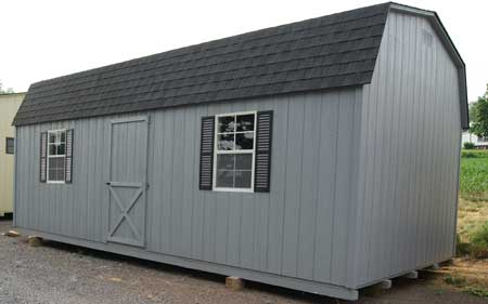 Wood dutch barn storage shed for sale in virginia for Small outdoor sheds for sale