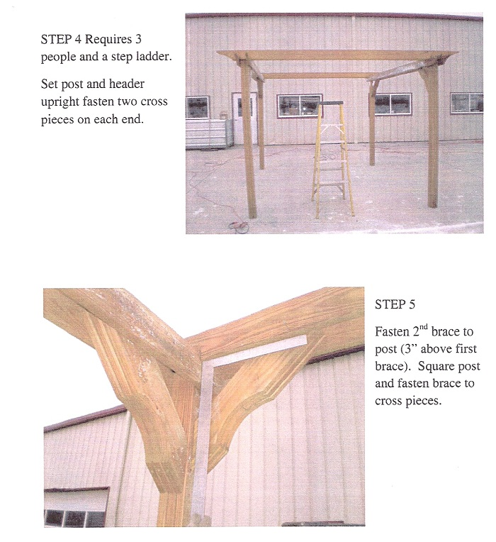 wooden pergola kits instructions