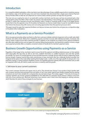 Leveraging Payments-as-a-service