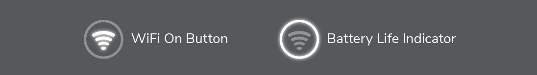 Get to know the WiFi button and battery life indicator