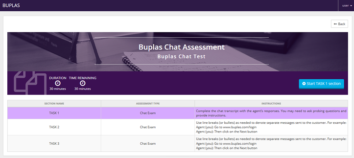 BUPLAS Chat Assessment