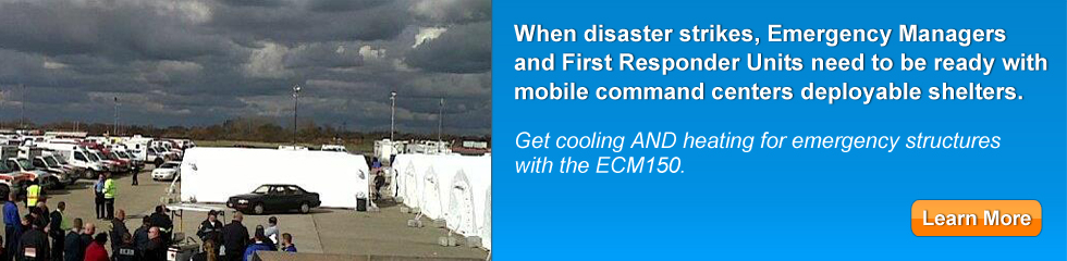 portable air conditioning for disaster recovery applications