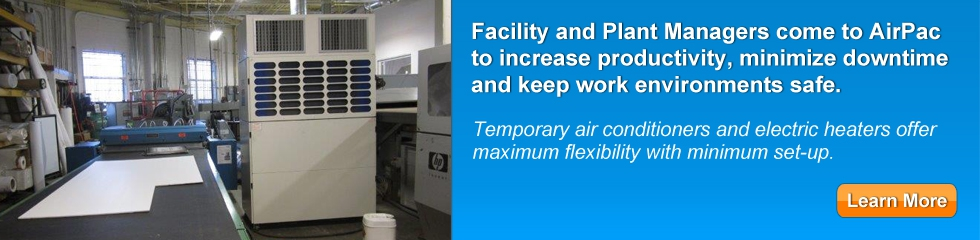 portable air conditioning for industrial warehouse-applications