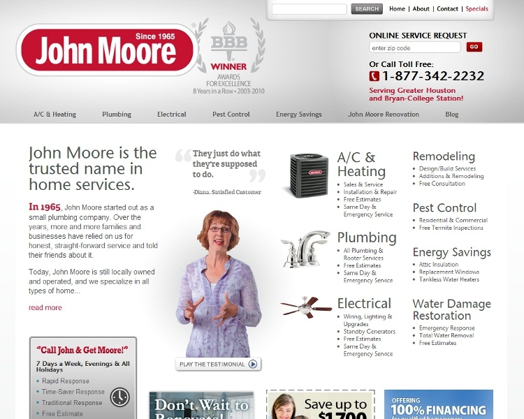 John Moore Services Site Overhaul Focuses on Customers and Support