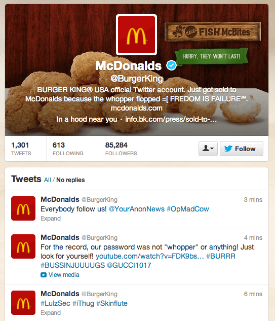 Burger King, Hacked!