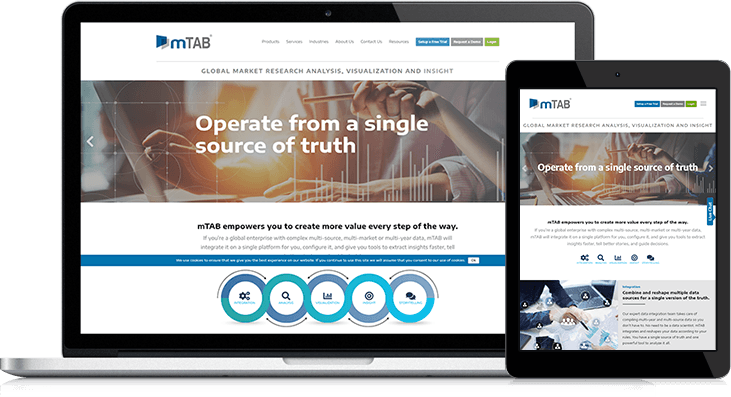 New Website Design Helps mTAB Educate Leads On Survey Analysis Process
