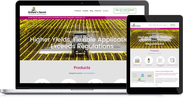 Grower's Secret Blossoms with Website Overhaul