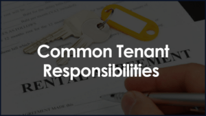 Common Tenant Responsibilities