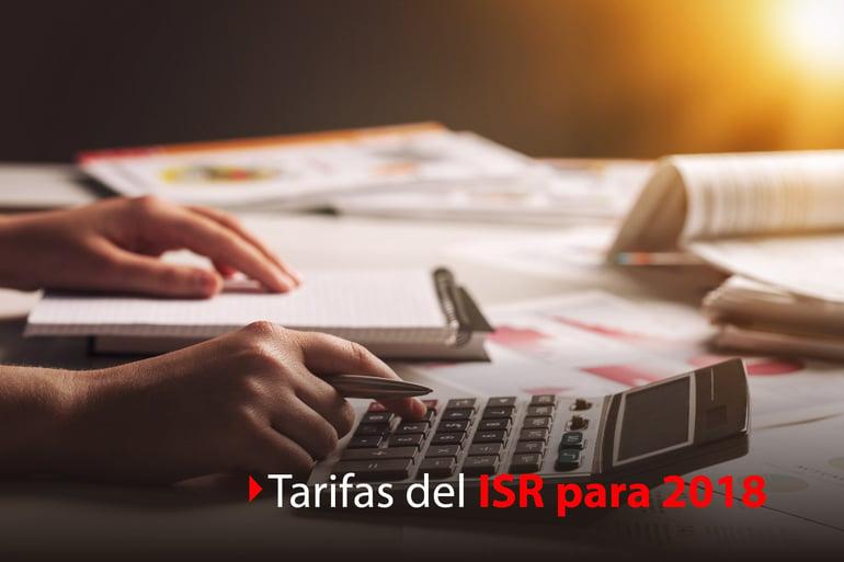 Tarifas para el ISR 2018