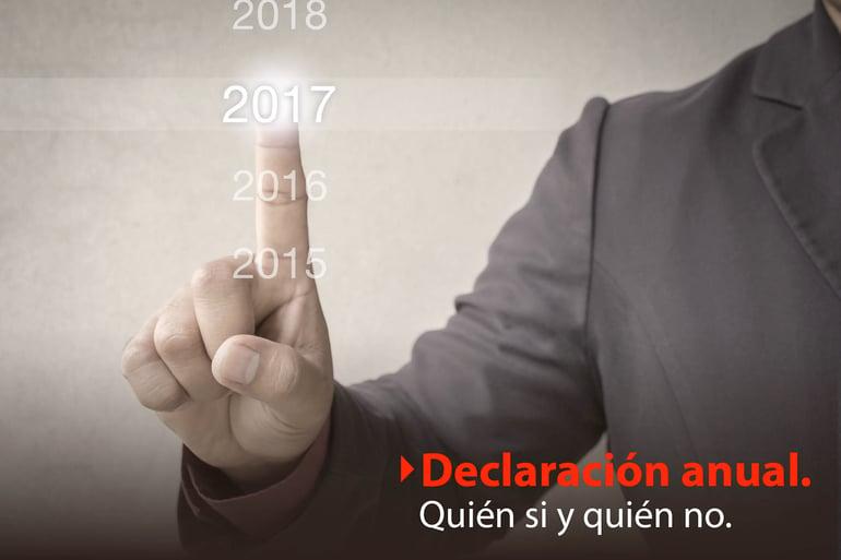 ¿Quiénes están obligados a presentar declaración anual?