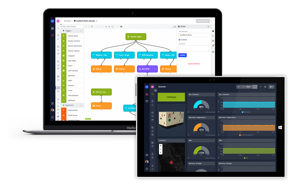 Losant Workflow and Dashboard