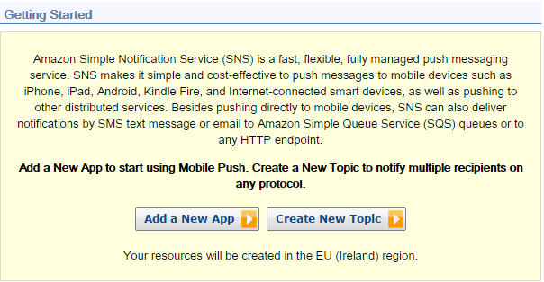 Amazon SNS - Push Notifications to Mobile Devices Using PHP