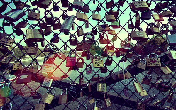 locks on fence