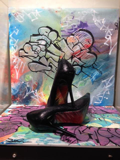 Erin Meade - graffiti shoes