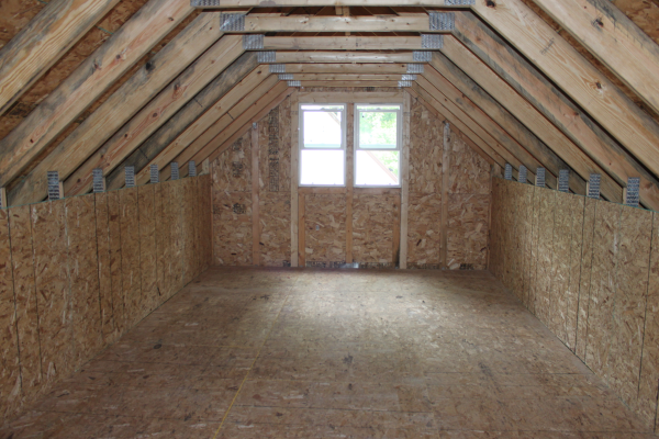 Amish Built Attic Car Garage With Loft Space: Room In Attic Truss Garages St Paul Minneapolis