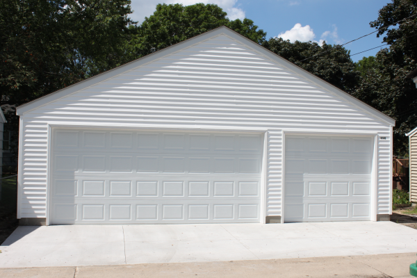 three car garage building front