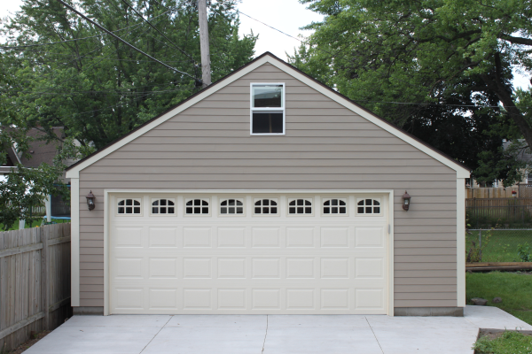 Garages minneapolis mpls two car garage for Two car garage with loft cost