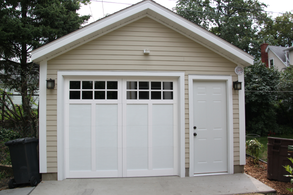 Affordable detached garage builder single car garages for Single garage with carport
