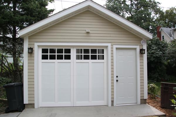Affordable detached garage builder single car garages for 1 car garage