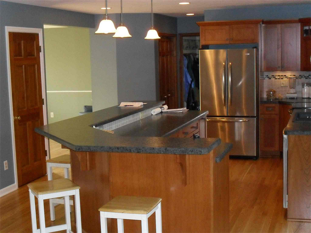 The Opening Between Kitchen And Dining Room Was Doubled In Size Joining Two Rooms