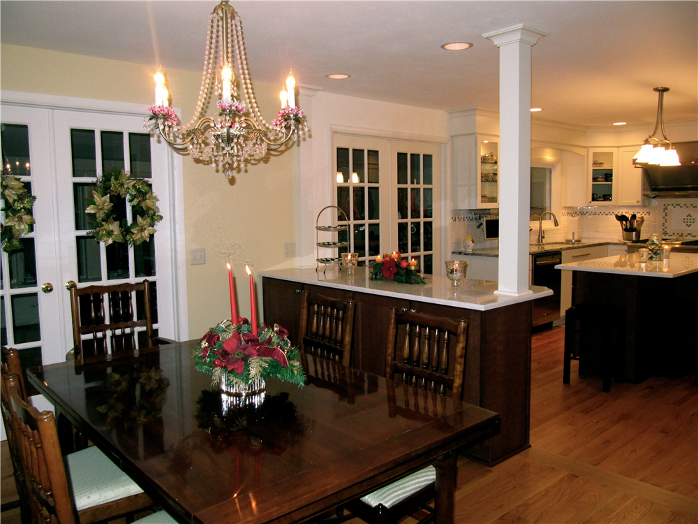 The Kitchen And Dining Room Are Adjoined By A Peninsula That Provides China  Storage In The
