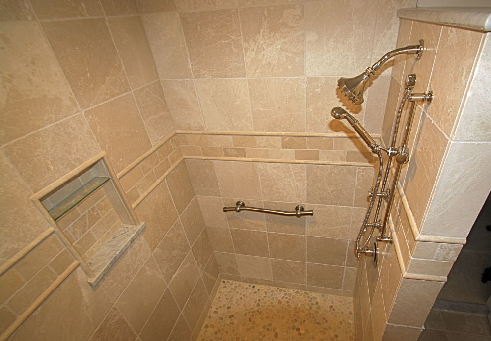 Walk in shower without doors Walk in shower designs