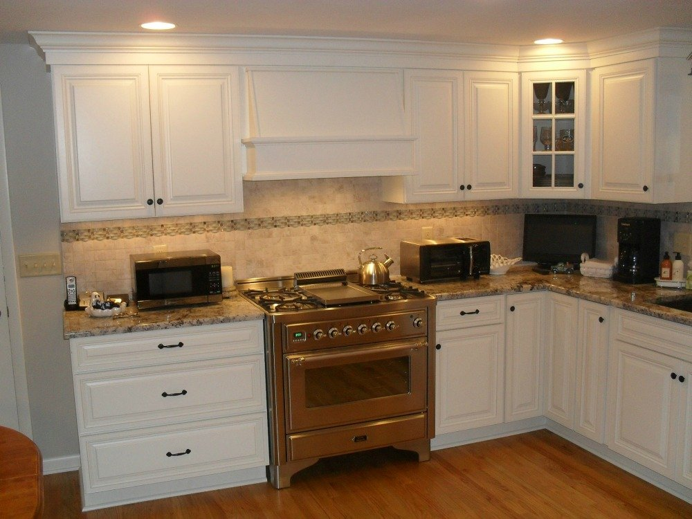 how to close the space between cabinet and ceiling