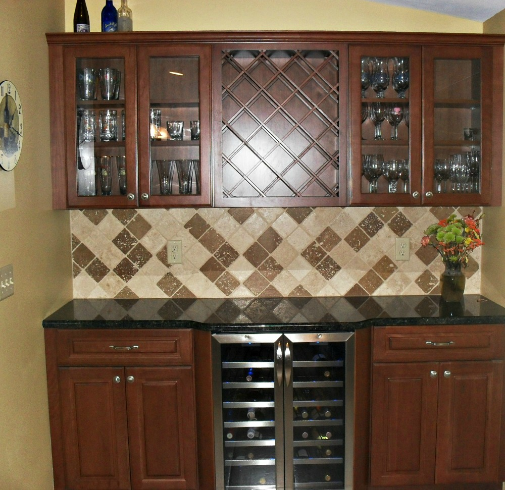 The homeowners are delighted with the wine bar that replaced an underutilized desk/counter area & Kitchen Cabinets Installation u0026 Remodeling Company Syracuse CNY