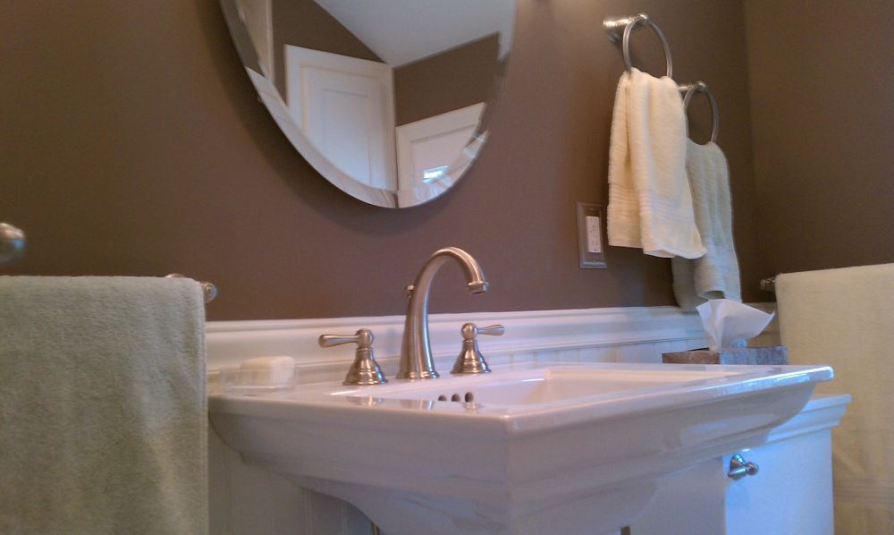 Wide Base Pedestal Sink : The pedestal sink is a stand-alone fixture that features a wide basin ...