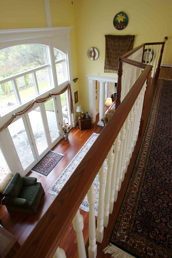 Interior stair and railing design ideas photos and for Balcony 2nd floor