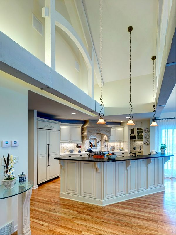 Home addition design ideas project photos and descriptions for Kitchen designs with cathedral ceilings