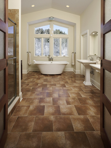 Remodeling photo galleries mcclurg for Master bathroom flooring