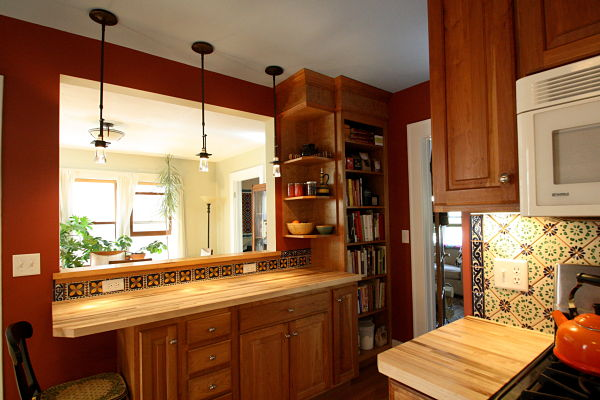 An Opening Was Cut Into The Wall That Separated The Kitchen And Dining Room  To Create ...