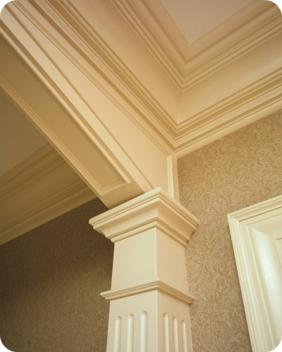 Coffered ceilings beams and more architectural trends for Fiberglass crown molding