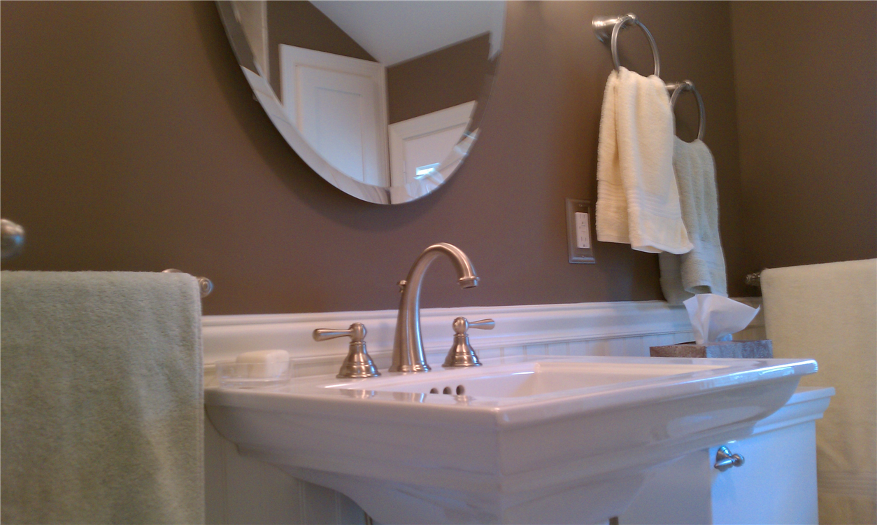 The Pedestal Sink Is A Stand Alone Fixture That Features A