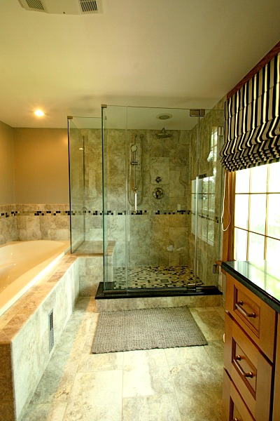 Custom Walk In Showers project of the month: custom walk-in shower