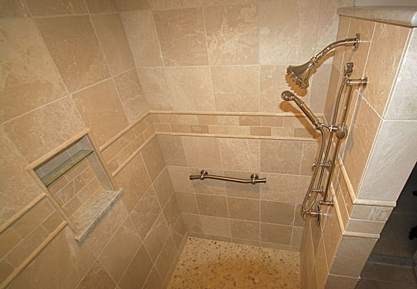 Walk in shower design ideas and remodeling tips free guide - Walk in shower base ...