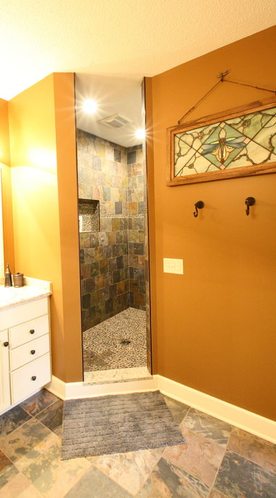 Project of the Month Master Bath with Walk in Shower and Walk in