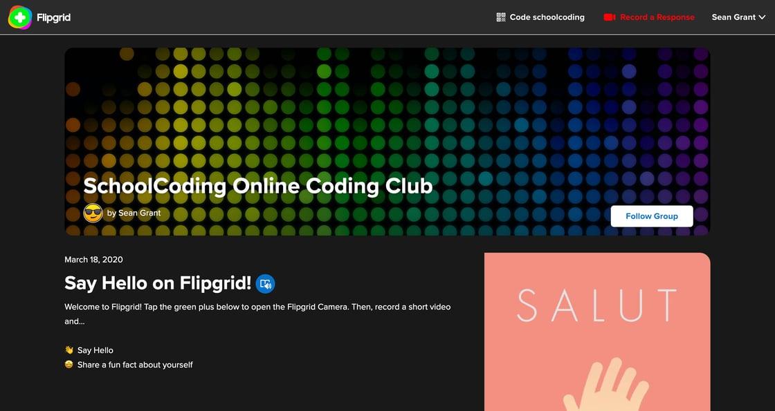 Flipgrid | schoolcoding