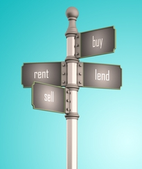 sign rent sell buy lend cropped