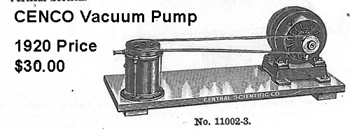 CENCO 1920 Model Vacuum Pump