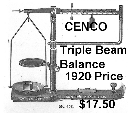 1920 Cenco Triple Beam Balance