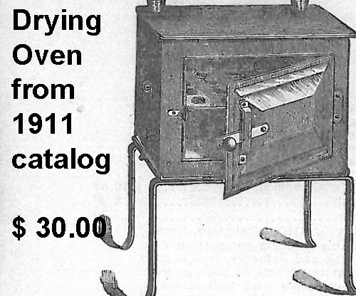 Drying Oven as Shown in the 1911 Central Scientific Catalog