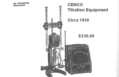 1950 CENCO ph Meter