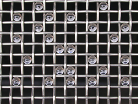 Calibration Micro Spheres on Sieve Mesh
