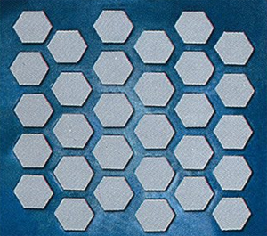 Perforated Plate with Hexagon Holes
