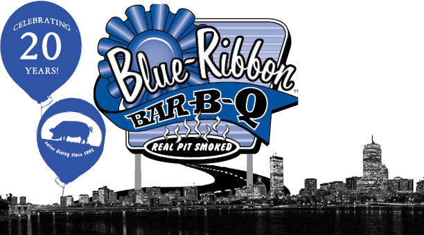 Blue Ribbon BBQ Boston Skyline Celebrating 20 Years
