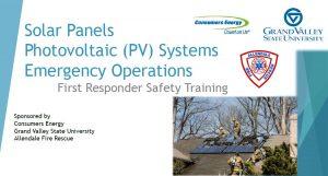 Michigan Solar Solutions: Firefighter Training in Grand Rapids