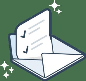 illustration of opened letter