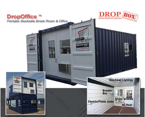 Construction Site Break Room : Shipping container mods construction site office